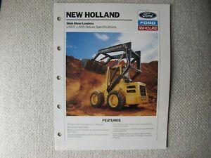 1990 Ford New Holland L-553 L-555 skid-steer loaders brochure