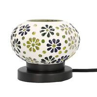 Home Decor Handcrafted Flower Pattern Small Mosaic Table Lamp with E 12 Holder