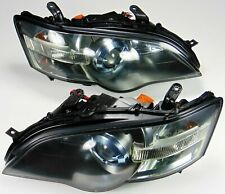 RARE JDM SUBARU LEGACY HEADLIGHTS BLUE BEZEL HID CONVERSION BPE BP5 BL5 04-07 GT