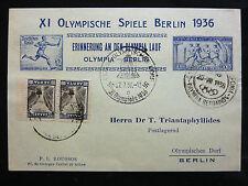 Griechische-Deutsche-Ganzsache, 1936, von Griechenland nach Berlin gelaufen.!
