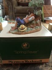 "1985 Norman Rockwell Museum Mini Figurine ""Spring Fever� With Box"