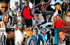 Chris Brown Collage Poster