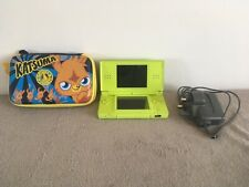 NINTENDO DS LITE GREEN CONSOLE + CHARGER  + MOSHI CASE AMAZING CONDITION WOW