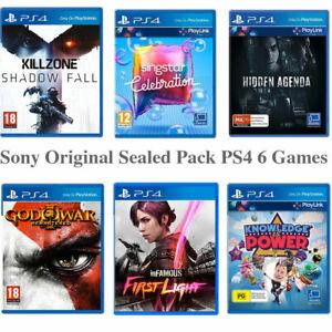 Playstation 4 6 Games Pack PS4 Game Singstar God of War Hidden Agenda Killzone