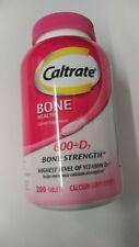 Caltrate 600+D3 Bone Strength Calcium Supplement 200 Tablets Exp 02/2022