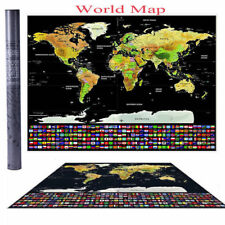 Buy scratch world maps atlases ebay scratch off journal world map personalized travel atlas poster wcountry flags gumiabroncs