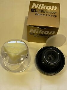 Nikon EL-NIKKOR 80 mm f5.6 Enlarging Lens - MINT