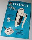 Vtg INSTRUCTION MANUAL General Electric GE Super Deluxe Portable Electric MIXER photo