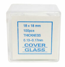 Microscope Cover Slips, Size #1 Thickness, 18mm by 18mm, Pack of 1000 Slides