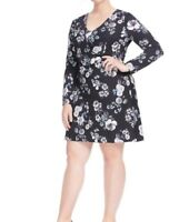 Adrianna Papell Etch Floral Jersey Fit And Flare Dress Size 14