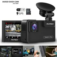 AKASO Trace 1 Pro Dual Lens Car Dash Camera WiFi FHD Dash Cam with GPS Phone App