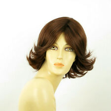 short wig for women dark brown copper ref LISA 31 PERUK