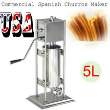 A+5L Stainless Steel Commercial Manual Spanish Churro Maker Machine Easy Use Usa