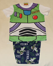Disney Toy Story Buzz Lightyear Boys Printed 2 Piece Pyjama Set Size 6 New