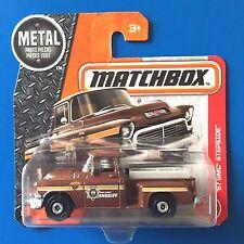 2017 Matchbox BOONE COUNTY SHERIFF 1957 GMC STEPSIDE PICKUP TRUCK SHORT CARD!