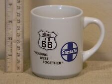 "Route 66 Santa Fe Coffee Cup  ""Heading West Together"""
