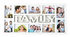 10 Photo White Plastic Multiple Hanging Family Picture Frame Memories Home New