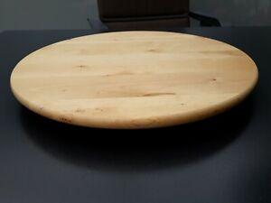 Servierbrett KÄSEBRETT Holz Käseplatte Servierplatte mit Griff Rund 37,5x26,5 cm
