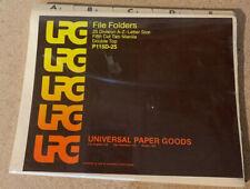 🔥 Vintage 1978 File Folders By Universal Paper Goods 🔥