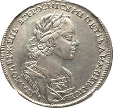 Russia 1723 Peter I Silver Rouble NGC XF-45 UNDERGRADED!!