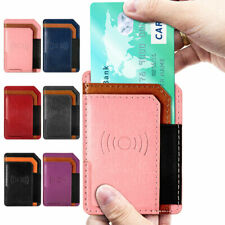 Adhesive Leather Cell Phone Wallet Case Card Holder For iPhone, Android and All