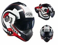Roof Casque Boxer V8 Cible White-red Mat Taille 2 x L