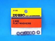 Du-Bro 2109 Rondelles 3 mm (8) Flat Rondelles | modélisme