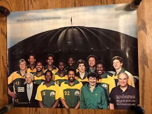 Vtg 1979-80 Seattle SuperSonics Poster Kingdome Sonics Lenny Wilkens Fred Brown