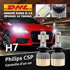 2X 120W H7 CSP LED Phare feux Blanc Lampe Ampoule Voiture Auto Headlight 12000LM
