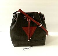 Guess Robinson Bucket Bag Brown/Cherry Red