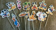 22 Mickey Mouse & Friends Cupcake Toppers Disney Cake Birthday Party Baby Shower