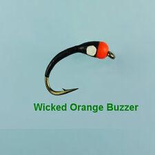 WICKED ORANGE BUZZER TROUT FLY - size 12