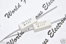 10pcs - 50R (50 ohm) 5W 10% Cement Power Resistor