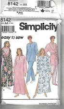 New Sewing Pattern Simplicity 8142 Size PT-MD  Easy to Sew Robe, Caftan & Pjs
