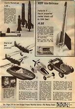 1969 ADVERTISEMENT Rocket Valkyrie II Apollo Eldon Raceway Plane Ryan ST-3 Cox