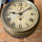 Antique Ship's Clock: Heath and Co Ltd. - With Key - Second hand revolves fine