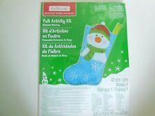 "Creatology Holiday Snowman Shocking Felt Activity Kit 8.25"" x 13.5"""