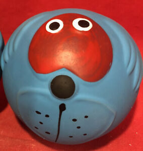 "Dog Toy 2.5"" Ball Latex Funny Face Squeaky Soft Tougher Long Lasting Than Vinyl"