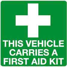 10x This vehicle carries a First Aid kit inside fixing window stickers (INF3A)