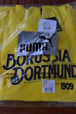 Puma BVB Borussia Dortmund Fan Hoody Kapuzenpullover, Damen, Neu, Gr. XXL, Gelb