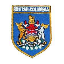 BRITISH COLUMBIA BLUE SHIELD CANADA PROVINCIAL FLAG IRON-ON PATCH CREST BADGE
