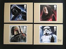 STAR Wars-Malcolm Tween firmata arte per Royal Mail francobolli cartoline x 4. (1)