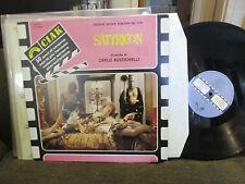 SATYRICON CARLO RUSTICHELLI ost ciak italy alfredo bini SOUNDTRACK LP rare 1984!