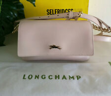 Longchamp Honore  Leather Shoulder Bag in Pawder Pink with Chain Strap RRP £445