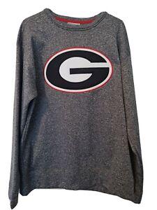Men's Majestic Section 101 Grey Gray Georgia Bulldogs Sweatshirt Brand New Large