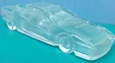 Ultra Rare FERRARI GLASS CRYSTAL CAR PAPER WEIGHT IN EXCELLENT CONDITION NEW-WOB