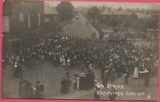 BRAINTREE JUNE 1912 'ON STRIKE' NAGS HEAD HOTEL RP REAL PHOTO POSTCARD