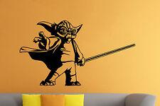 Star Wars Yoda Wall Decal Jedi Master Vinyl Sticker Wall Art Murals Decor 32sw