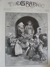 France Easter Sunday in Brittany 1908 print