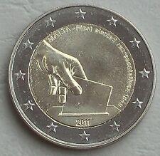 """2 euro Malta 2011 """"elección de los primeros diputados"""" unz."""